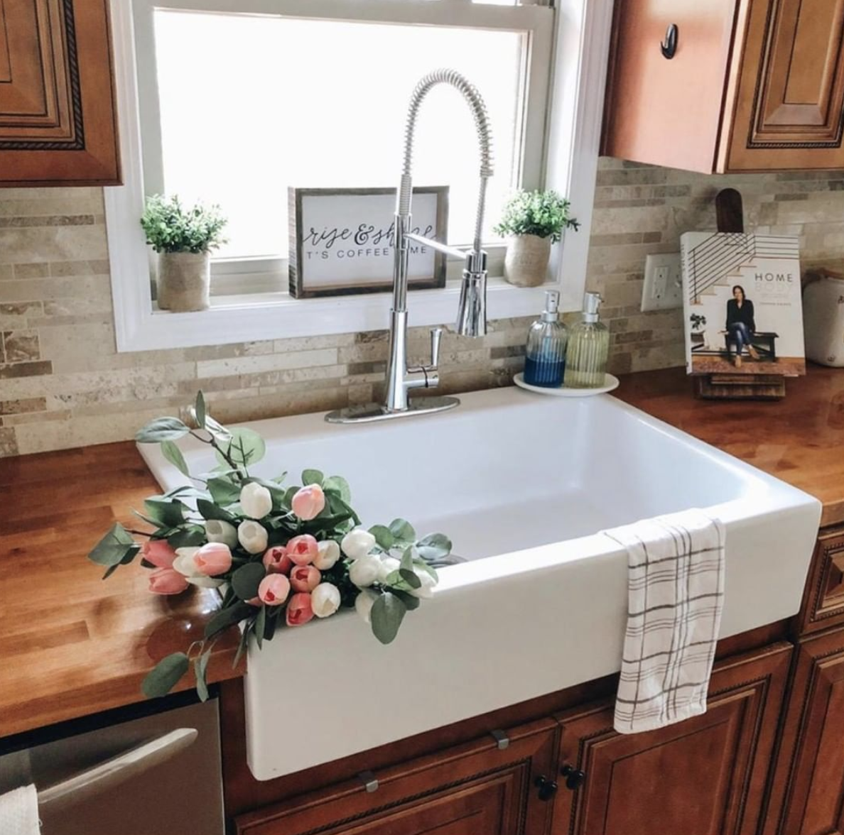 Josephine Quickfit Drop In Fireclay Farmhouse Kitchen Sink With