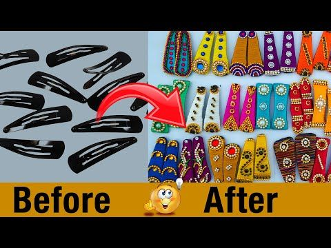 how to make hair clips at home | Kids Easy Hair Accessories Ideas | Silk Thread | DIY | #108 #kidshairaccessories