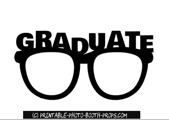 04fe409ca41b Free Printable Graduate Glasses Prop | Cricut | Photo booth props ...