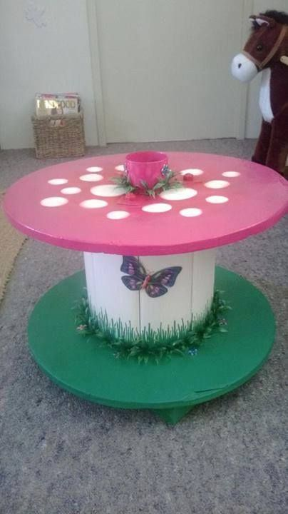 Lovely little Table made out of an old Cable reel. | Let\'s Build ...
