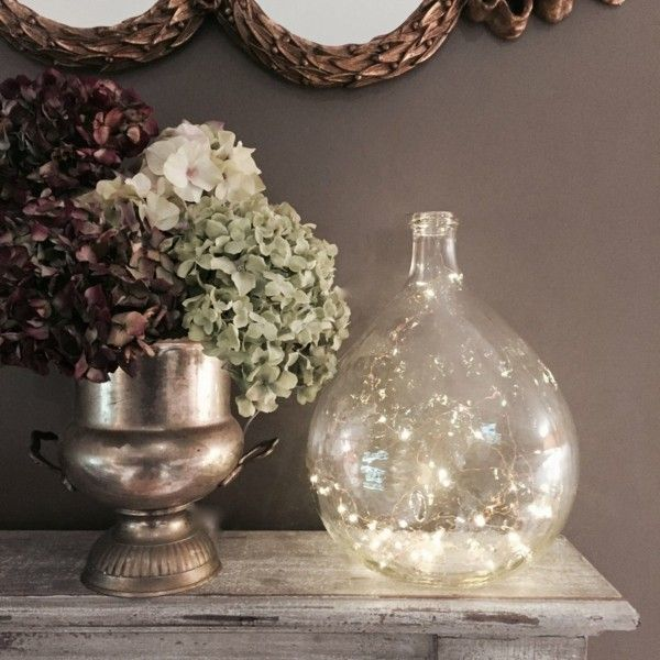 55 g nstige dekoideen mit lichterketten f r jede saison in 2018 dekoration decoration ideas - Weinballon deko ...
