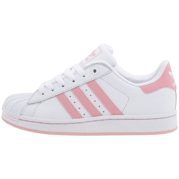 b4e56fa0890e55 ADIDAS SUPERSTAR II 2 NEU Gr 38 2 3 WEISS ROSA Schuhe ❤ liked on Polyvore  featuring shoes