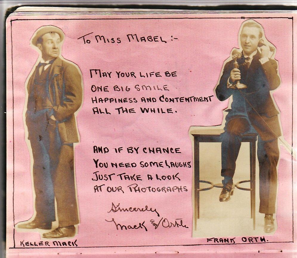 Amazing Edwardian Vaudeville Theater Handwritten Autograph Album Four Fords Act | eBay