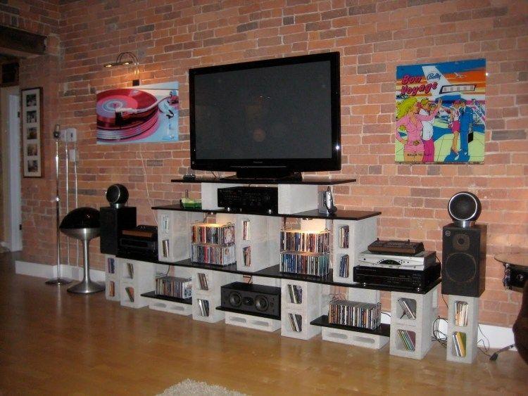 lowboard f r fernseher und tv sound system zuk nftige projekte pinterest lowboard. Black Bedroom Furniture Sets. Home Design Ideas