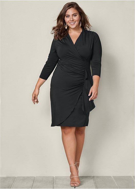 Side Ruffle Dress Products Dresses Plus Size Plus Size Black