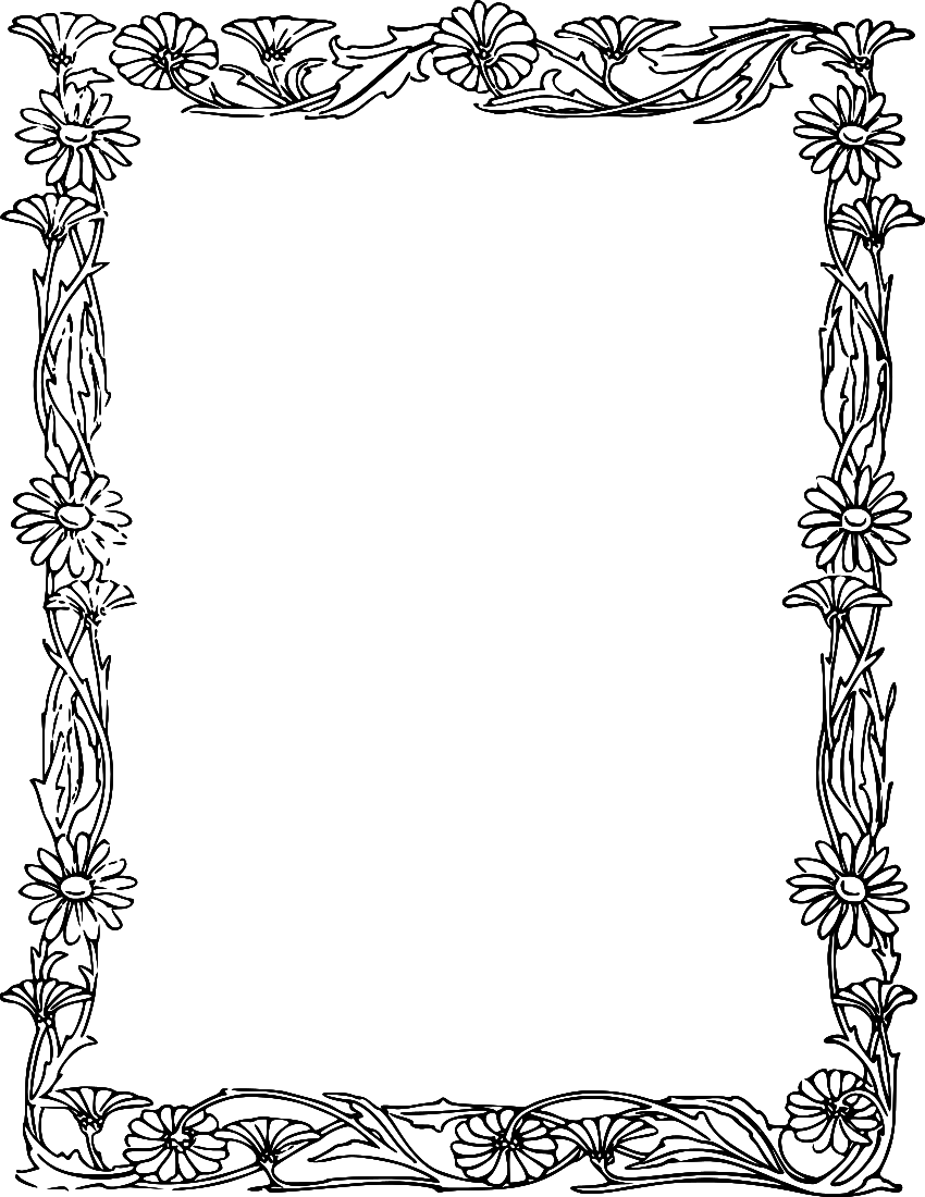 rose flower frame borders clip art Yahoo Search Results