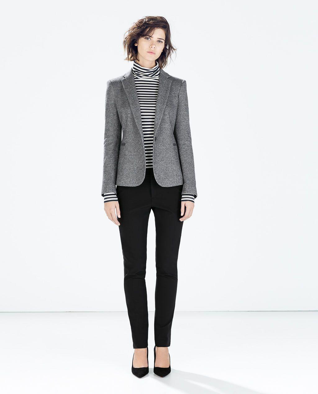Blazer España Style Mujer Coderas Julia's Zara Felpa Chaquetas rwxBaqrR