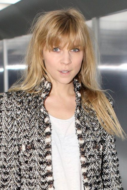 Clemence Poesy Hair - New Fringe At Chanel Couture