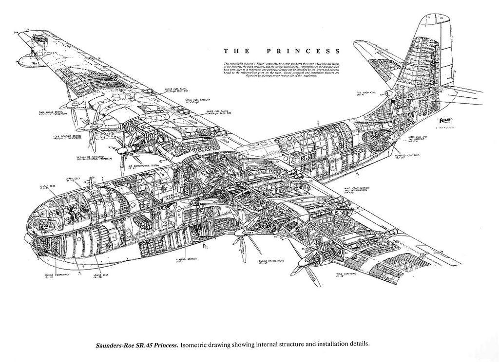 1952 saunders roe princess flying boat uk wings rh pinterest com