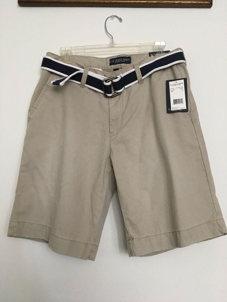 2c6d26e1a Mens Shorts Khaki NEW W Tags W 32 100% Cotton U.S. Polo Association Casual