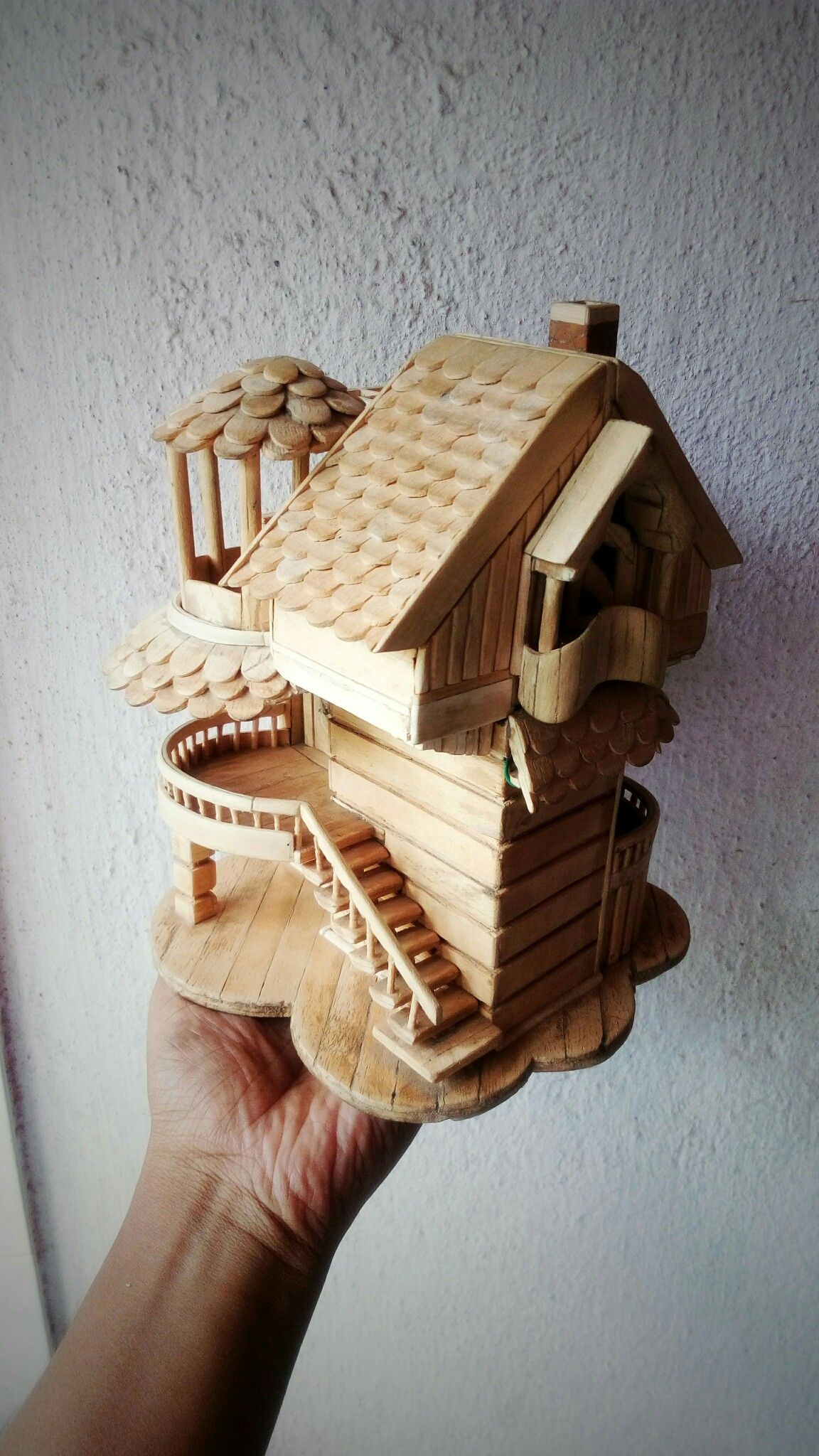 12+ Popsicle stick crafts house ideas
