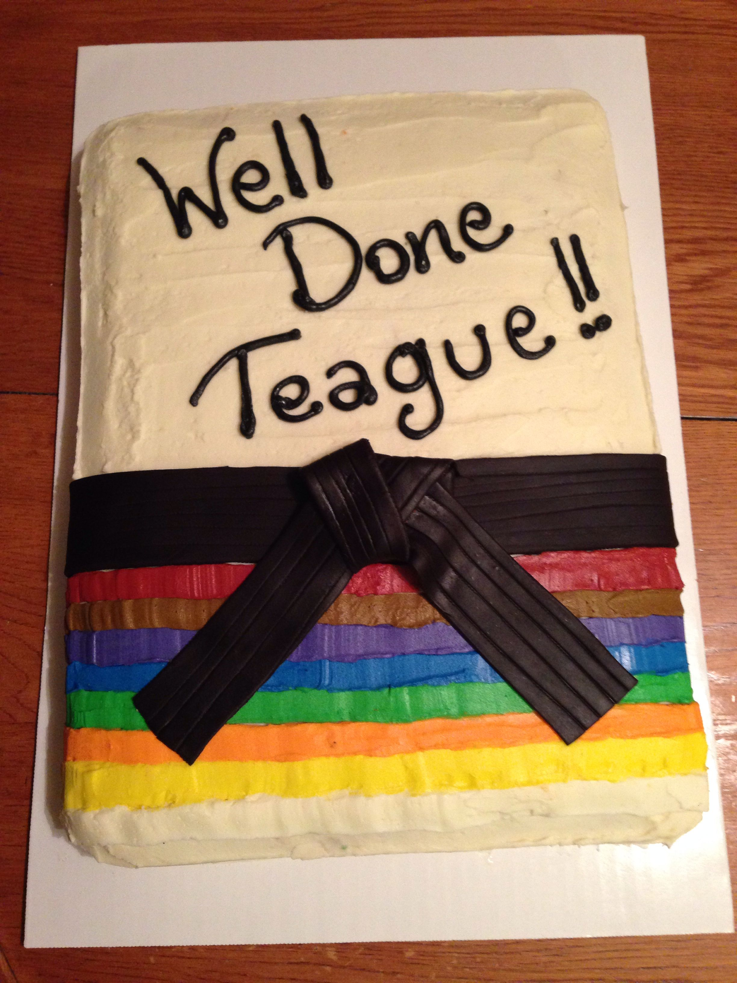 the cake i made for my son s taekwondo graduation when he earned his