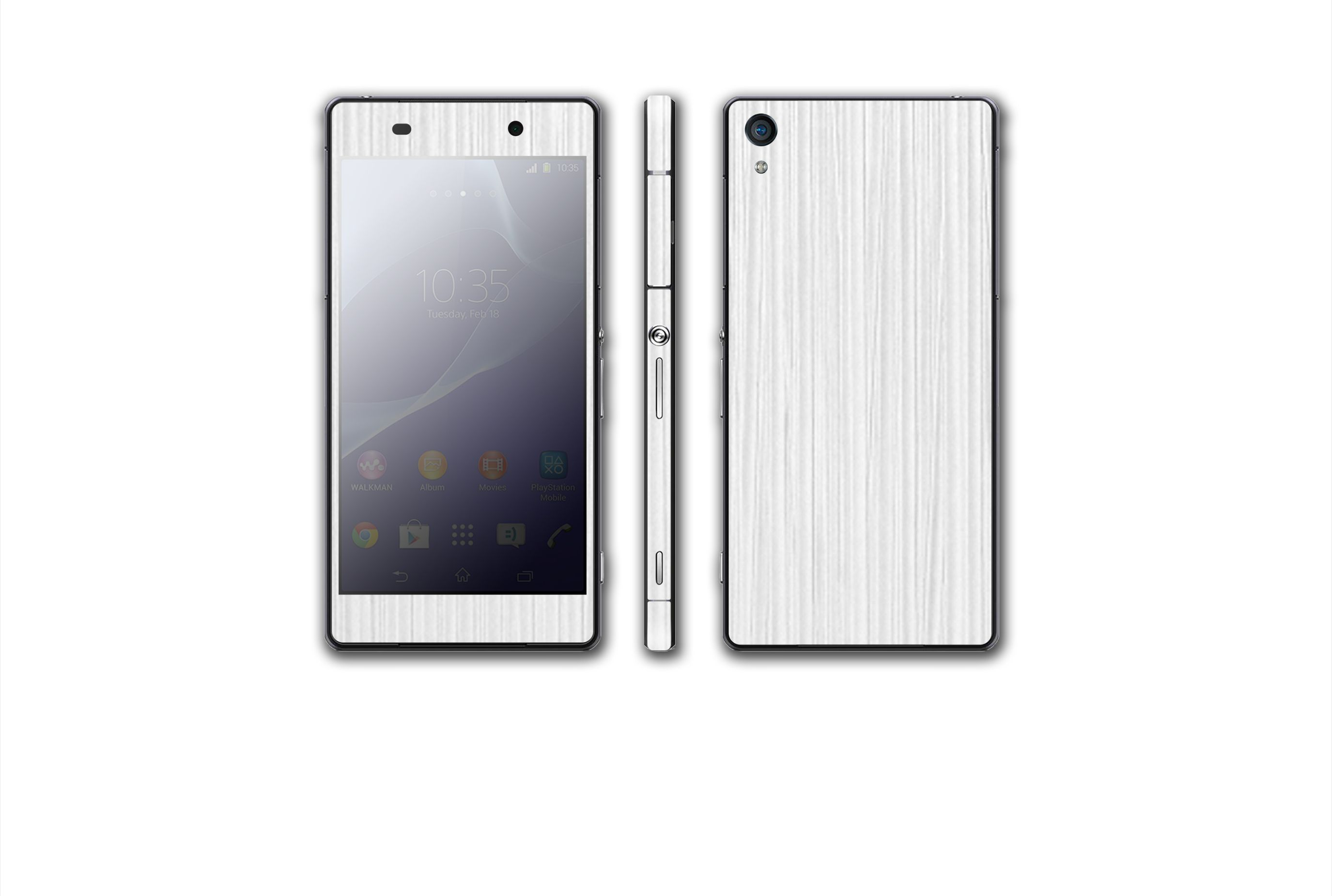 White Pearl Wood  #Sony #Xperia #Z2 #Mobile #Smart #Phone #SmartPhone #Skin #Wrap #Sticker #Stickers #Decals #Stickerboy #Shield #Protector #Wood #Ebony #Mahogany #Persimmon #Kyrobe #Vinyl #Electronics #Technology #3M