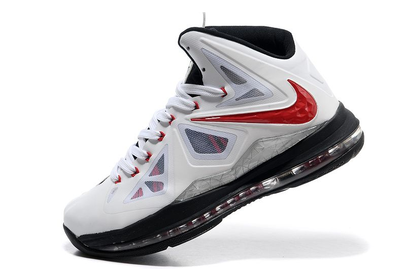 Lebron shoes 2013 Lebron 10 PS White Red Black | Lebron James Shoes ...