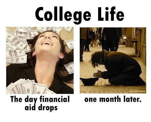 college/university life #brokebitch