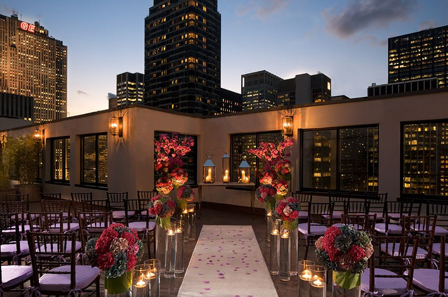 Beautiful Outdoor Wedding Ceremony At Tribeca Rooftop: Rooftop, Strictly Weddings And