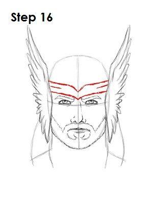 Thor Drawing Easy : drawing, Drawing, Superheroes,, Drawing,, Spiderman, Sketch