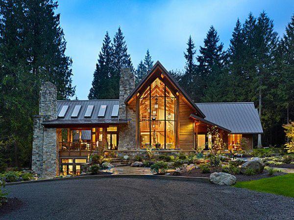 35 Awesome Mountain House Ideas Log Homes Exterior House