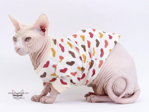 Thermal Long Sleeve Top Sphynx cat kitten clothes by SimplySphynx