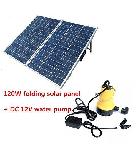 Amazon Com Eco Worthy Solar Powered Pump Kit 120w Foldable Solar Panel With Water Pump For Garden Pond Fountain Far Solar Panels Solar Portable Solar Panels