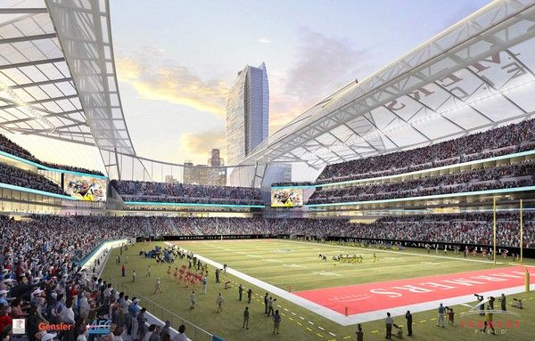 Artists Rendering Of The Proposed Los Angeles Nfl Stadium Nfl Stadiums Stadium Los Angeles