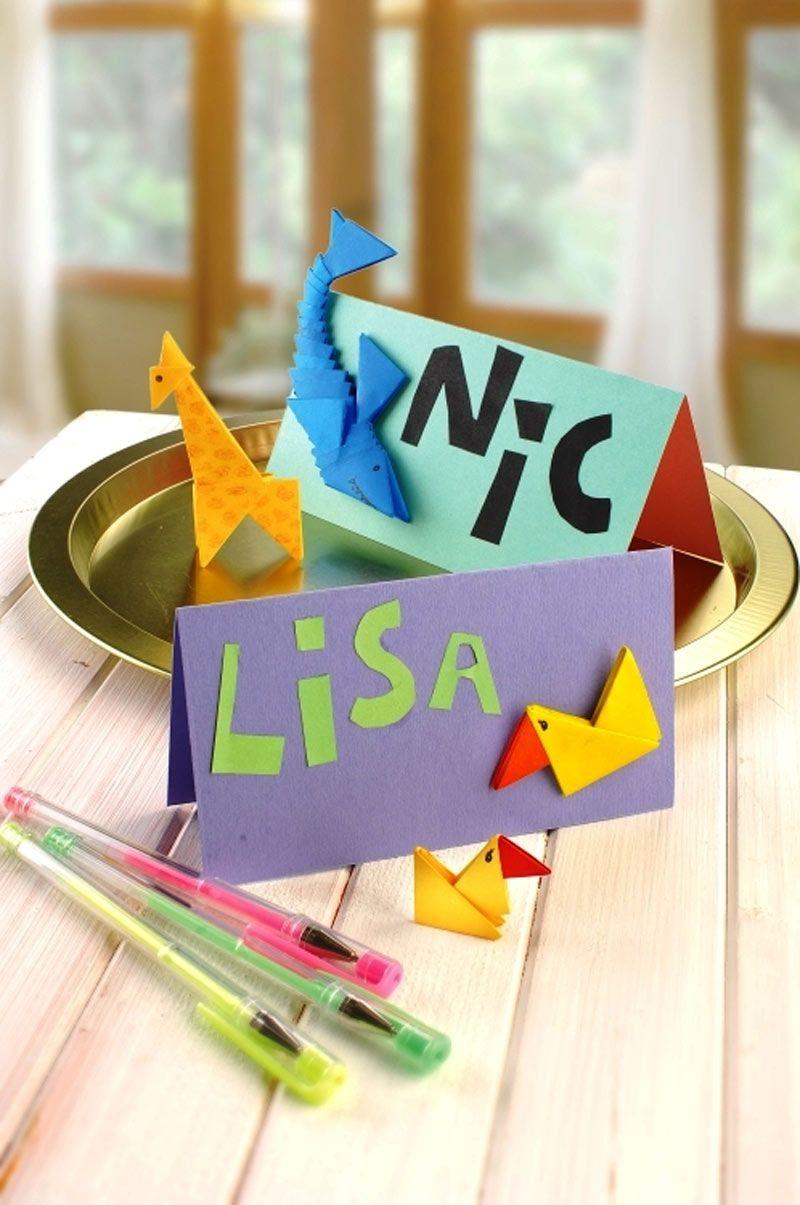 Tangrami Namensschild Rund Um Die Schule Namensschilder Basteln Namensschilder Papier Basteln Ideen