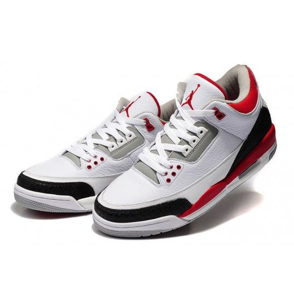 low cost air jordan 3 white fire red cement grey retro basketball shoes  authentic jordan website on sale 0f4242db2