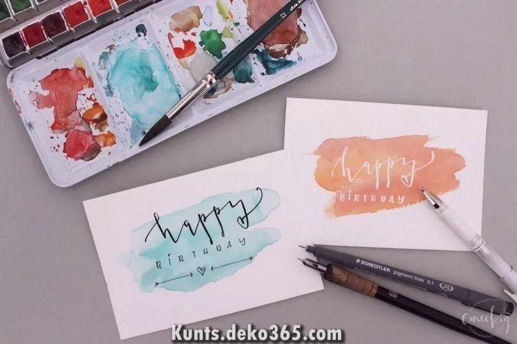 Was Auch Immer Gute Zum Geburtstag Diy Geburtstagskarten