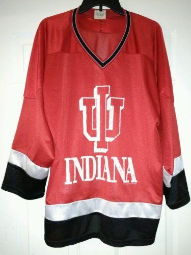 Vintage Indiana University hockey jersey rare large please retweet ... a49bee77b