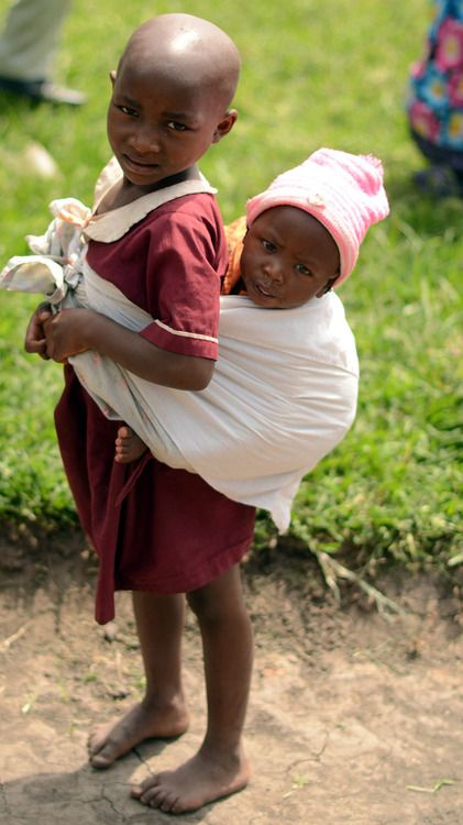 Children in Uganda - this is one of the issues that breaks my heart - babies taking care of babies.