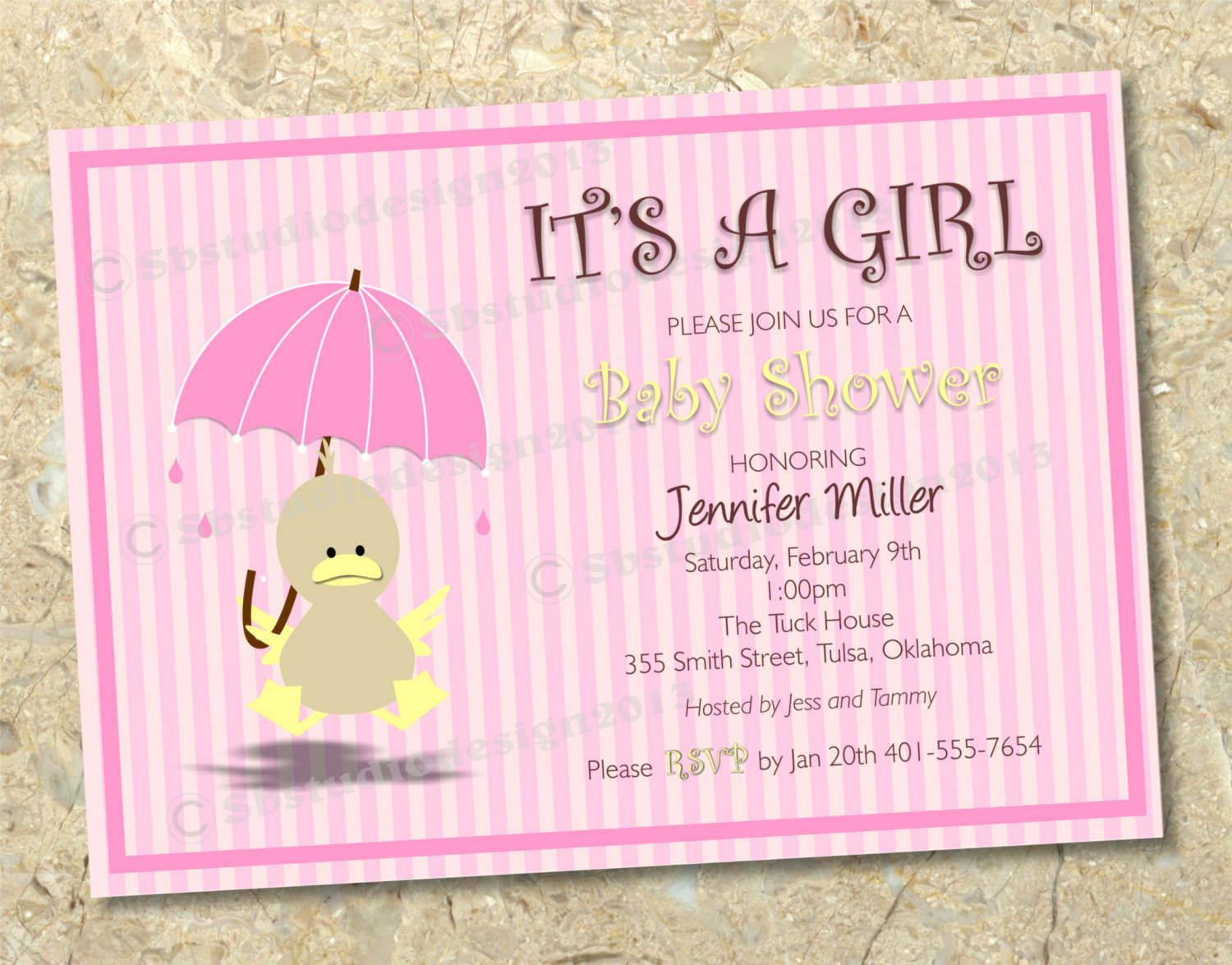 Entrancing Baby Shower Invitations Girl With Marvellous Baby Shower