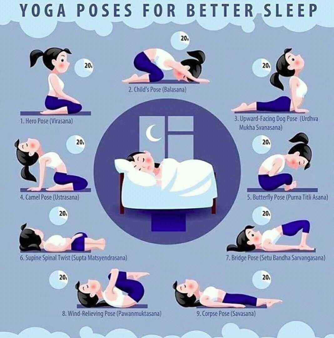 Yoga Poses For Better Sleep Sleep Yoga Easy Yoga Workouts Office Yoga