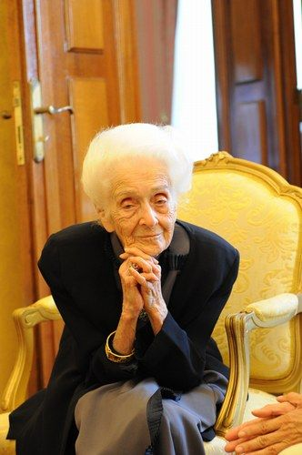 Happy 103rd B-day Mrs Montalcini, one of the few women Italy should be proud of