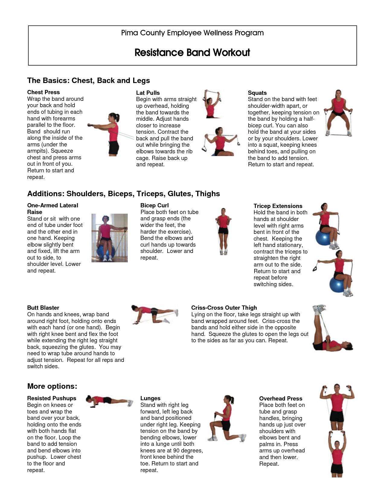 It is a picture of Versatile Printable Resistance Band Exercises