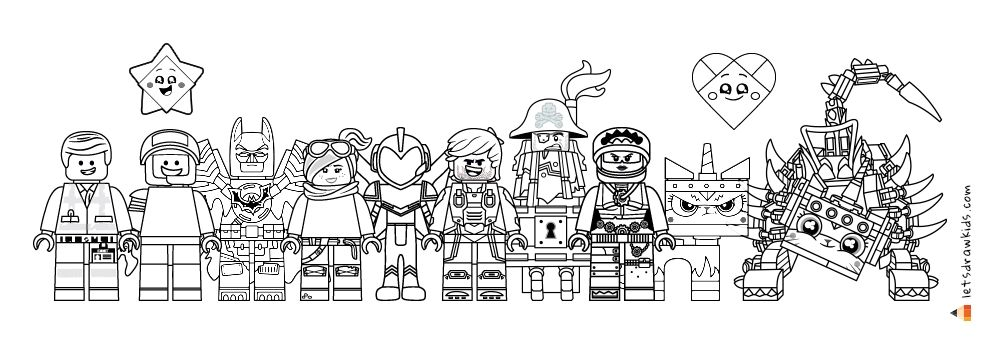 The Lego Movie 2 Drawing Lego Minifigures Coloring Pages Di 2020
