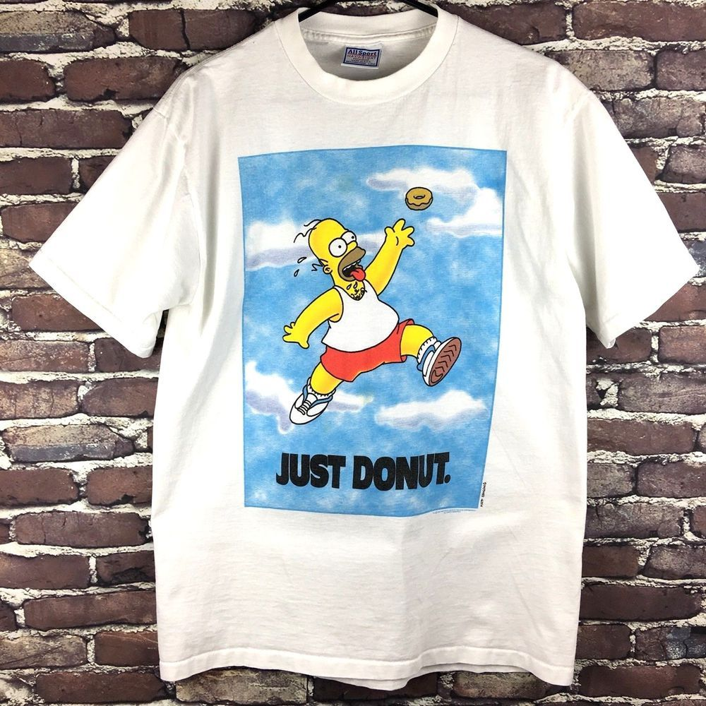 Doughnut Kids White T-shirt Graphic The Simpsons Homer Simpson