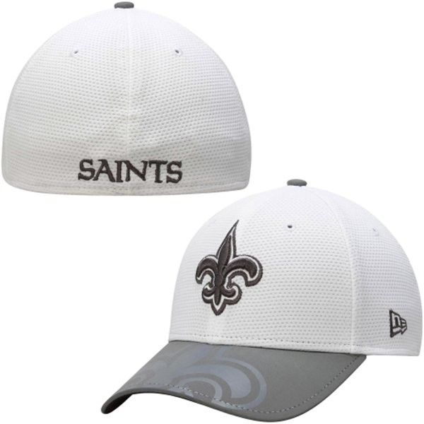 cheaper aa911 b5929 New Orleans Saints 39THIRTY New Era White Series Two-Tone Gunner Flex Fit  Hat