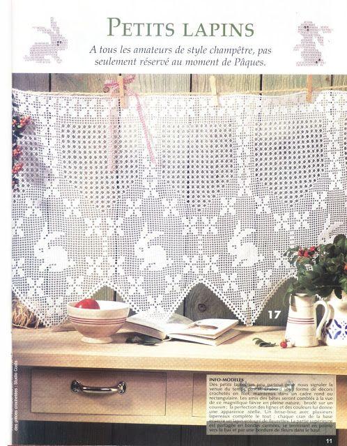 cenefas, manteles y carpetas con sus patrones(animales) | Crochet ...