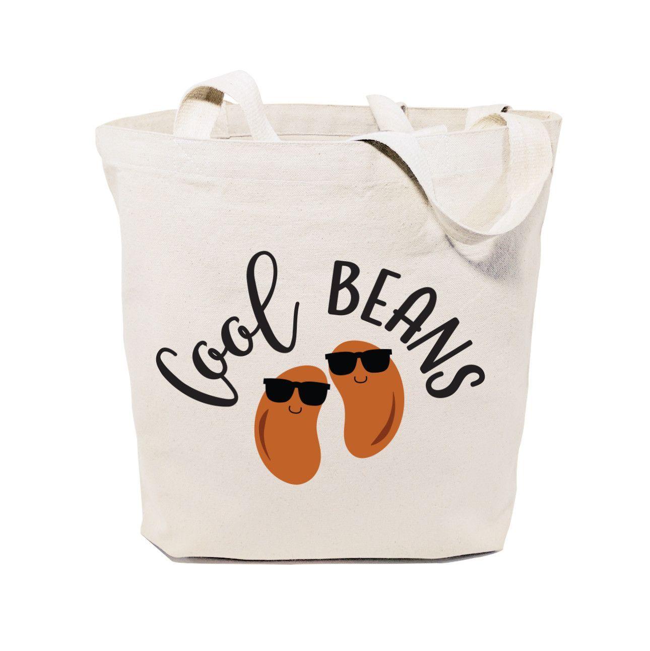 Cool Beans Cotton Canvas Tote Bag Anna Reusable
