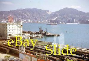 kowloon railway canton 1964 kong hong trains visit scene 35mm slide