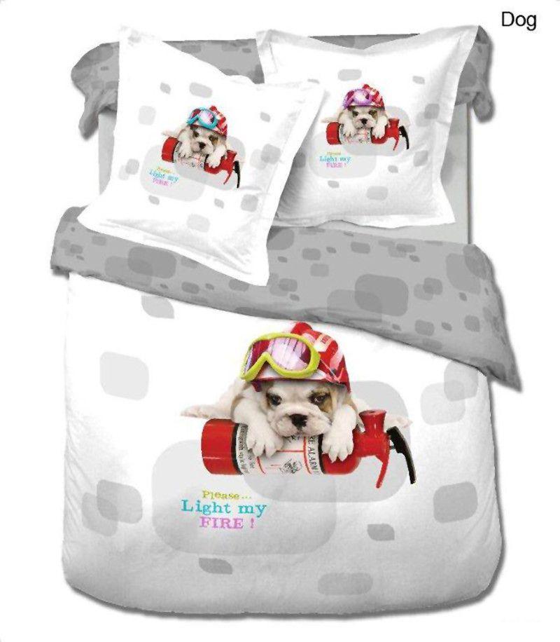 Dog 4 Piece Duvet Cover Set