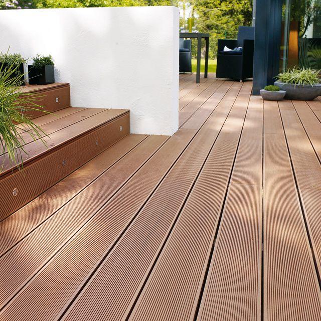 Anti uv wood plastic composite laminate flooring for for Plancher composite exterieur