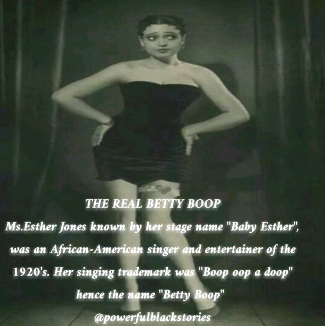 The Real Betty Boop Betty Boop Was Based Off Of Ms Esther Jones
