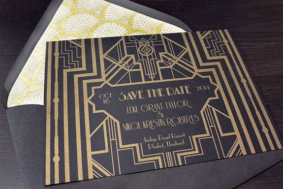 great gatsby invitations great gatsby inspired save the dates - save the date template