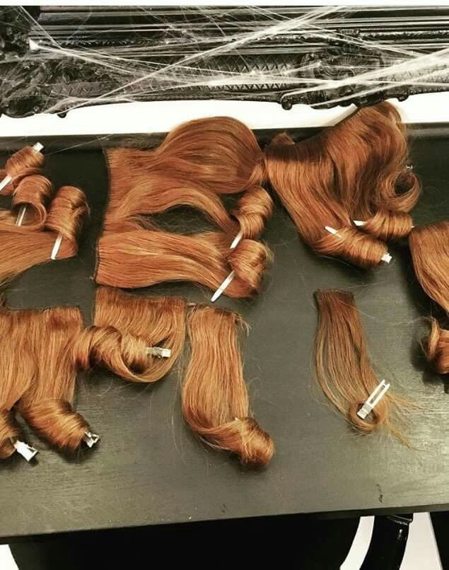 Our Clip In Extensions In Shade Light Auburn 30 Being Curled Shop