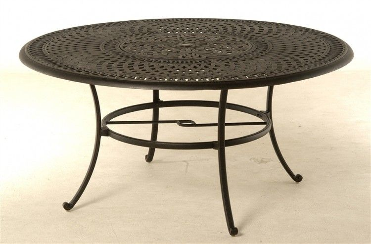 Lazy Susan For Patio Furniture, Outdoor Patio Dining Table With Umbrella Hole