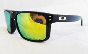 oakley holbrook polarized sunglasses - polished black/24k iridium