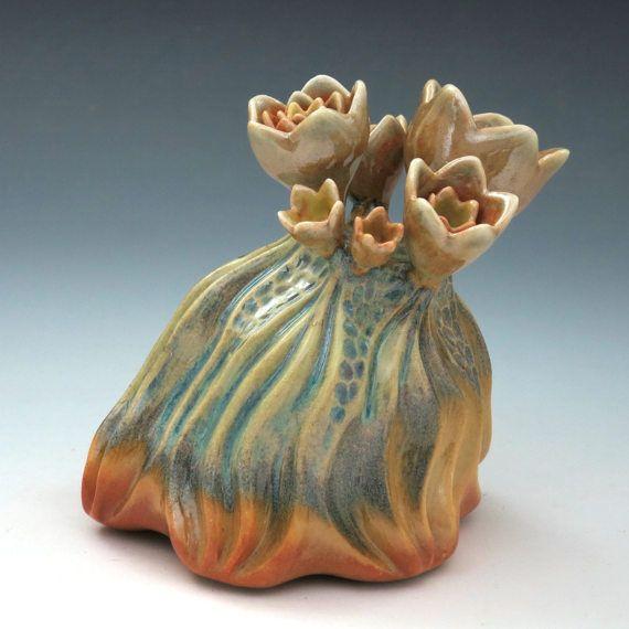 Porcelain flower reef sculpture carved in by robertapolfus on Etsy