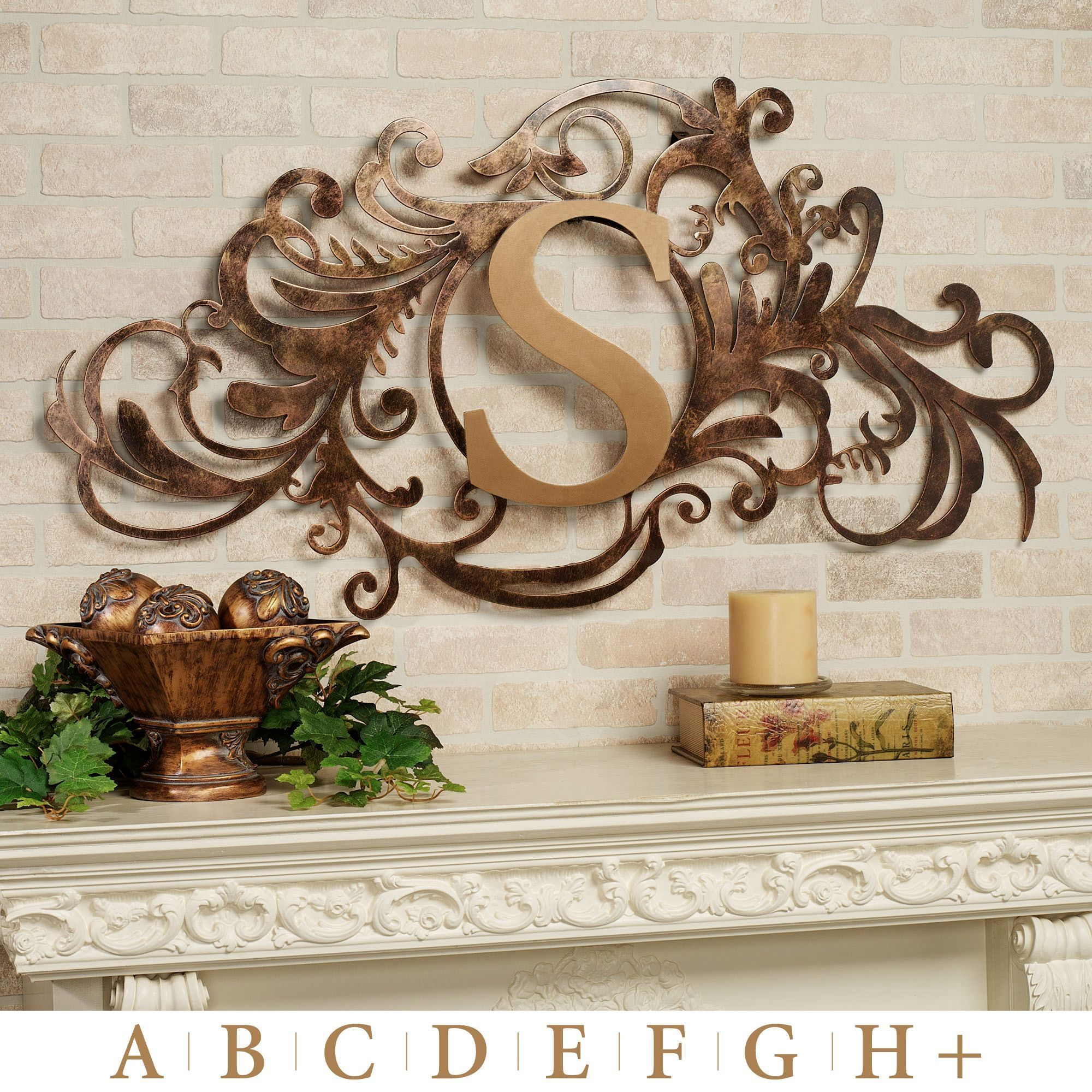 Outdoor Wall Sculptures Metal Evanston Wall Art Sign Goldbronze  Yard Art  Pinterest  Metal