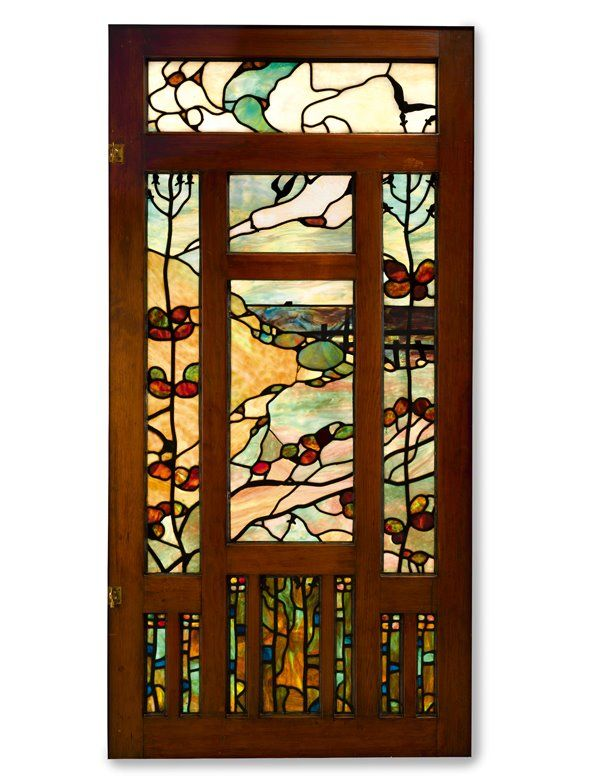 Entry Hall Window Panel ~ Green @GregCookland.com